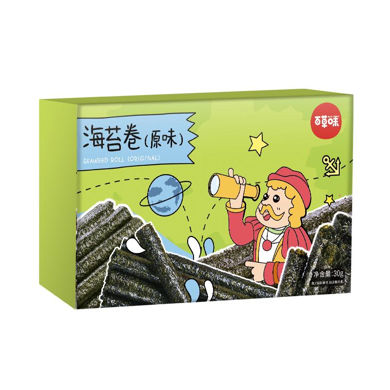 百草味 休闲零食小吃 海苔卷30g/盒