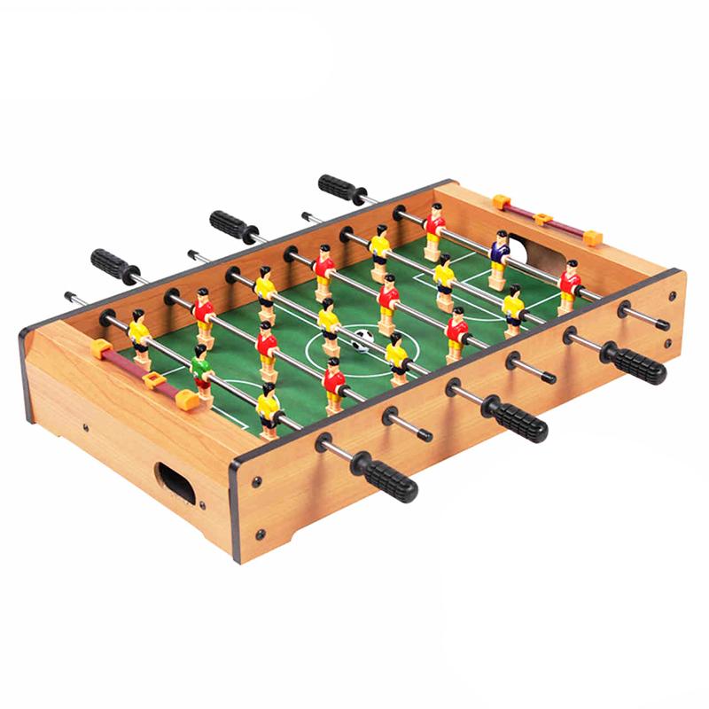 皇冠玩具( HUANGGUAN)中密度木質足球臺 木紋板桌上足球機 小型6桿桌上足球 315