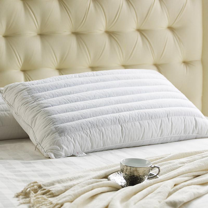 康尔馨 枕芯 五星级酒店护颈枕头 珍珠棉填充单面荞麦枕 全棉草药功能 74*48cm