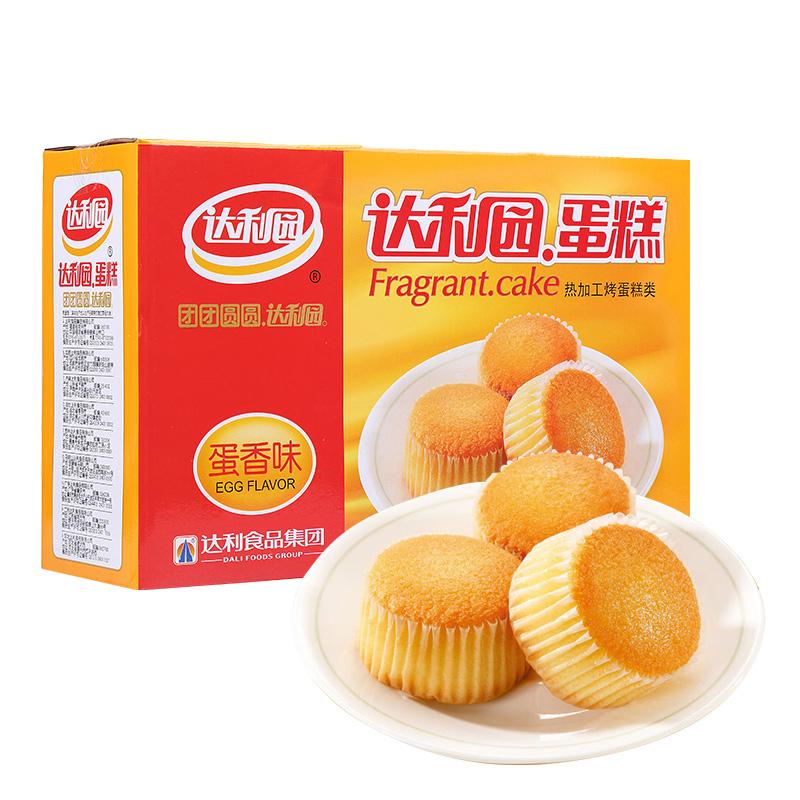 達利園蛋糕 蛋香味 營養早餐零食面包餅干蛋糕 600g