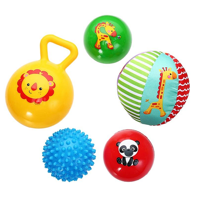 费雪(Fisher Price) 儿童玩具球 宝宝初级训练球五合一套装 F0906