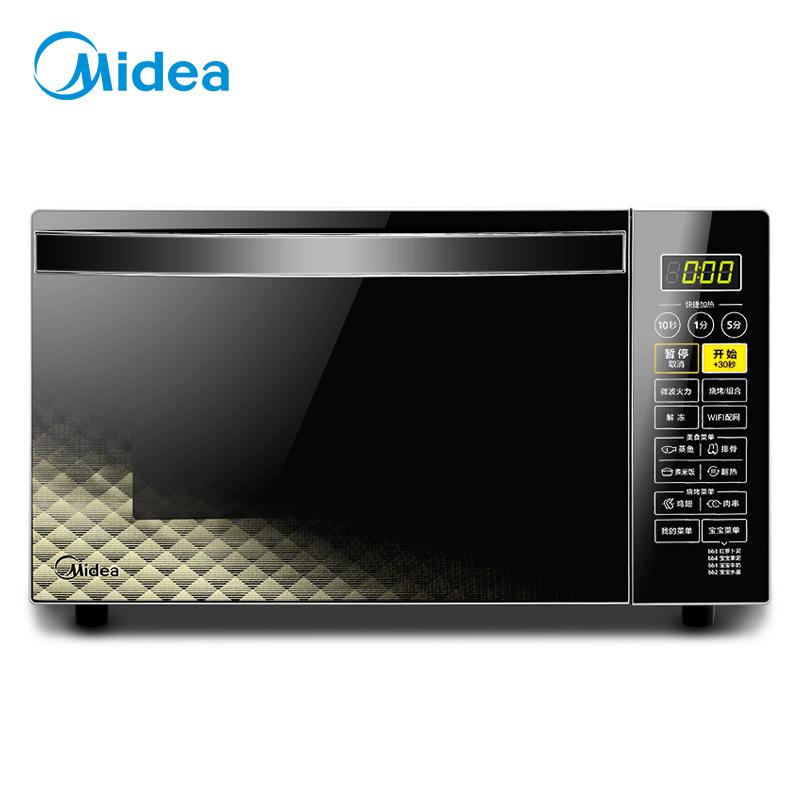 美的(Midea)X3-L239C 智能微波爐 光波燒烤 900瓦快捷加熱 23升 微聯智能京東微聯App控制