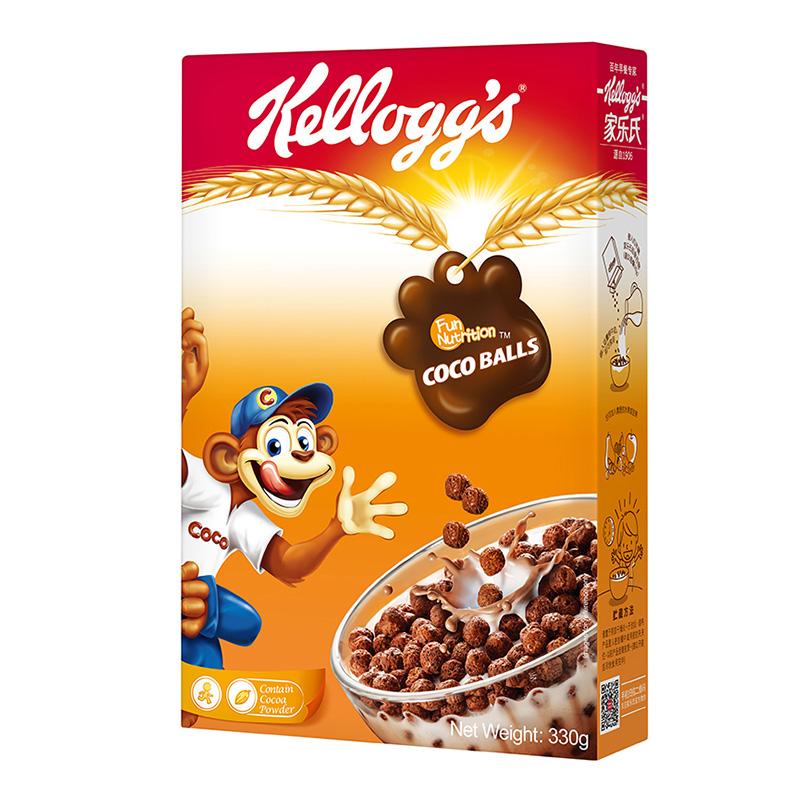泰国进口 家乐氏(Kellogg's)可可球 进口麦片 即食冲饮 营养谷物早餐330g