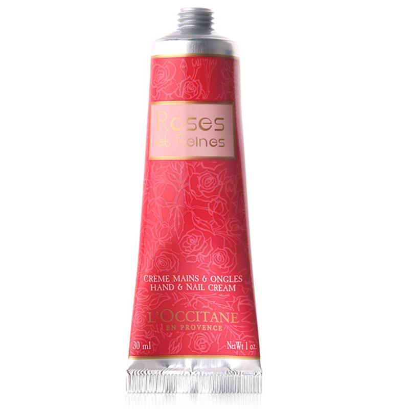 欧舒丹(L'OCCITANE)玫瑰润手霜30ml(又名玫瑰皇后润手霜30ml,新老包装随机)滋润护手霜