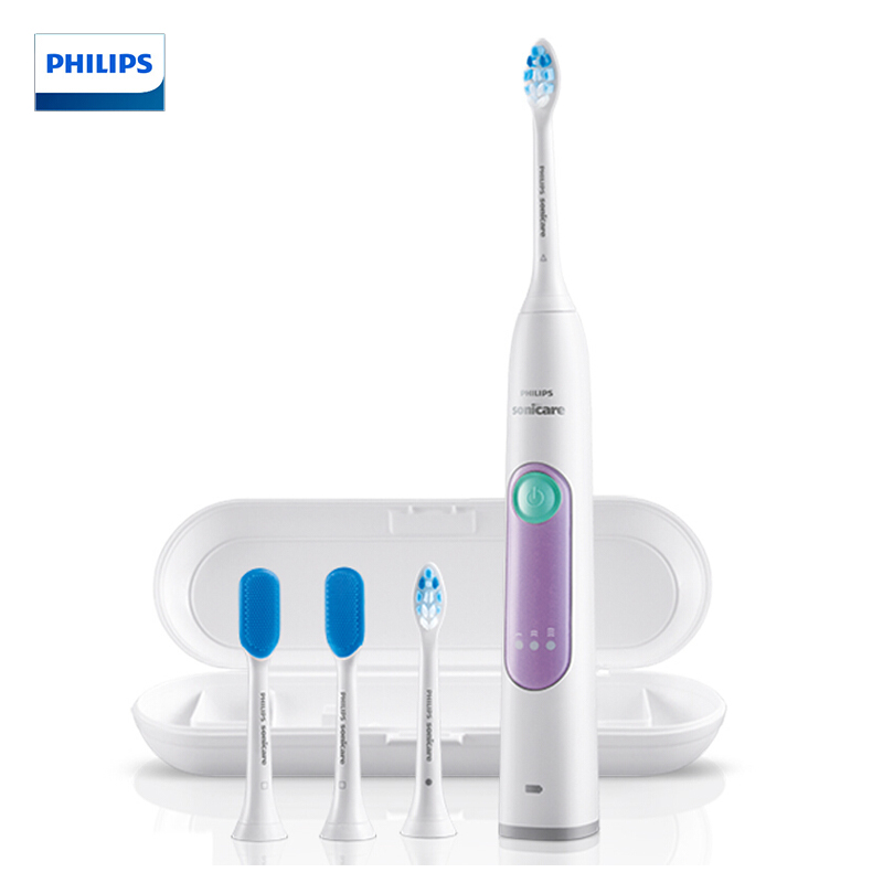飞利浦(PHILIPS)电动牙刷HX6616 / 51 成人充电式护理型声波震动牙刷 优雅靓紫