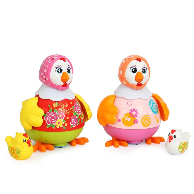 匯樂玩具(HUILE TOYS)益智玩具 跳舞雞718 運動爬行嬰幼兒童早教啟智聲光玩具顏色隨機