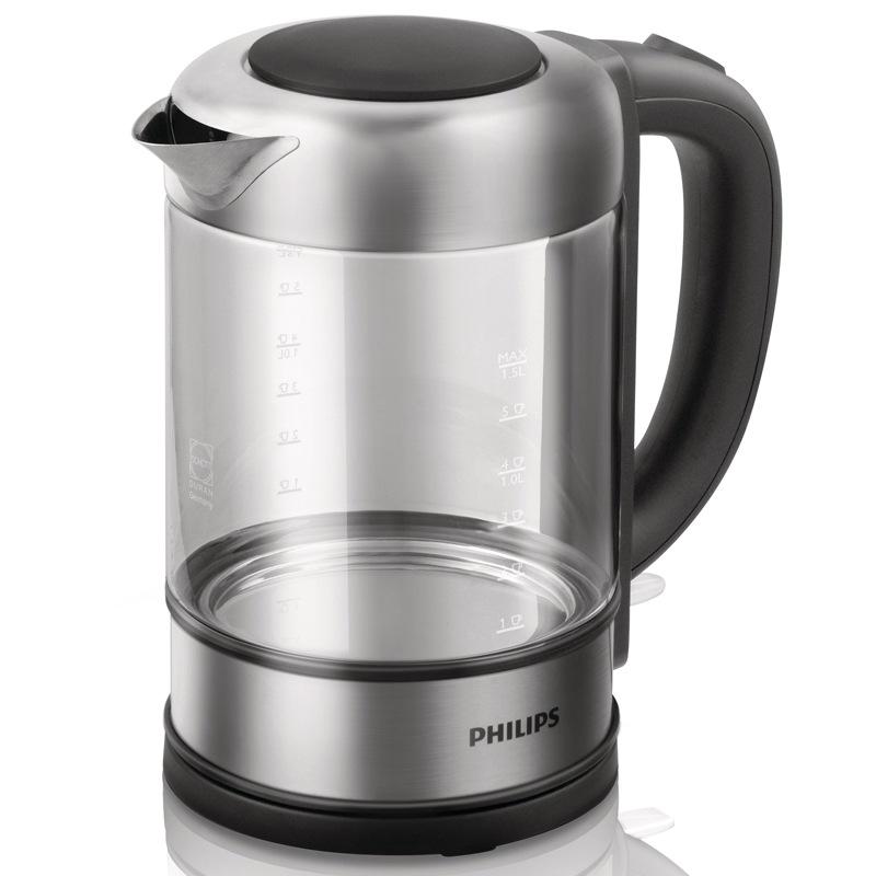 飞利浦(PHILIPS)电热水壶 德国肖特玻璃烧水壶 HD9342/08 1.5L电水壶