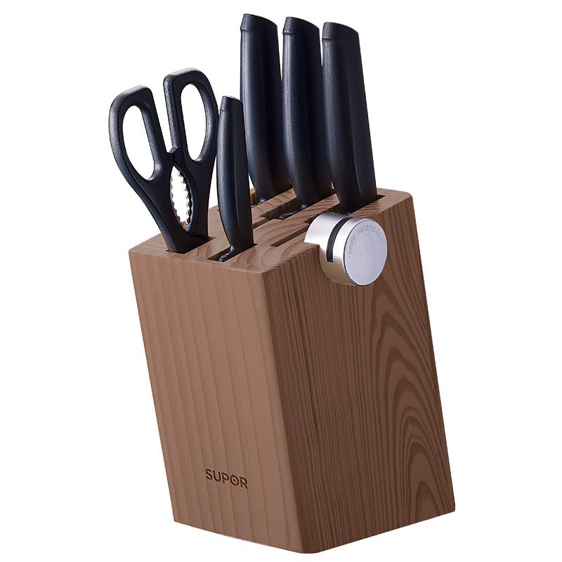 蘇泊爾supor 廚房刀具不銹鋼套裝 尖峰系列7件套刀.TK1520Q