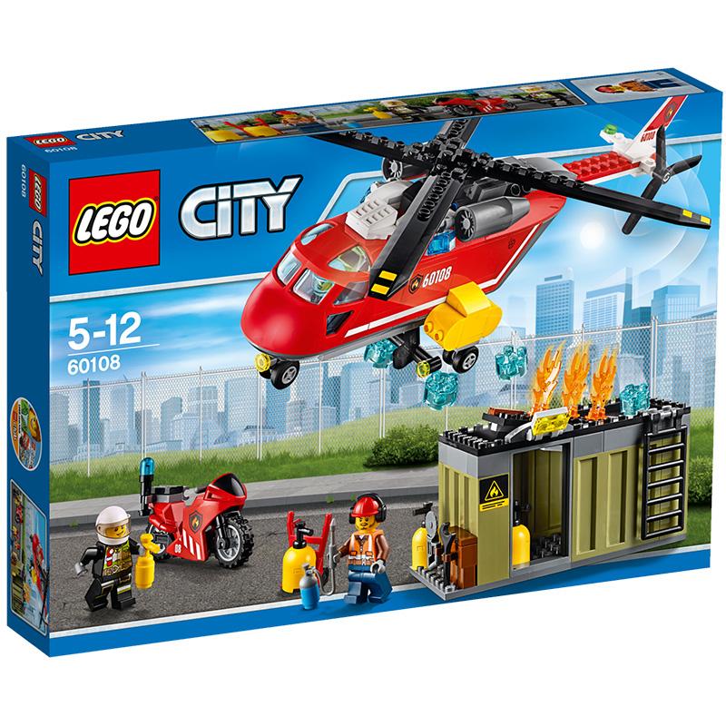乐高 玩具 城市组 City 5岁-12岁 消?#20048;?#21319;机组合 60108 积木LEGO