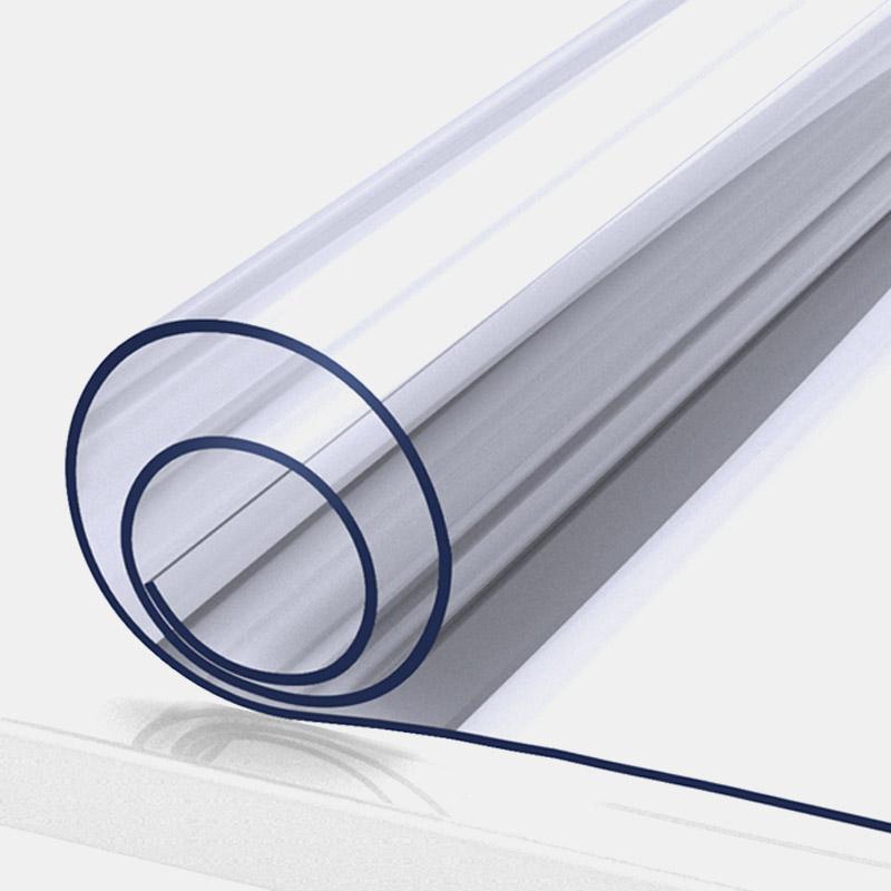 FOOJO富居透明軟玻璃桌布防水防油PVC餐桌墊茶幾臺布80*130cm