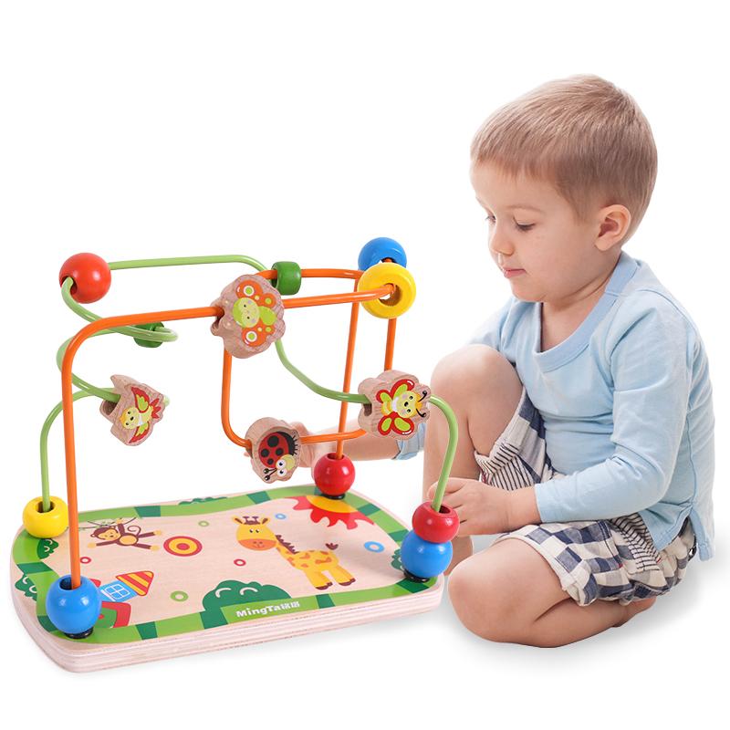 铭塔(MING TA)早教益智玩具绕珠 儿童婴幼儿宝宝启蒙串珠盒装