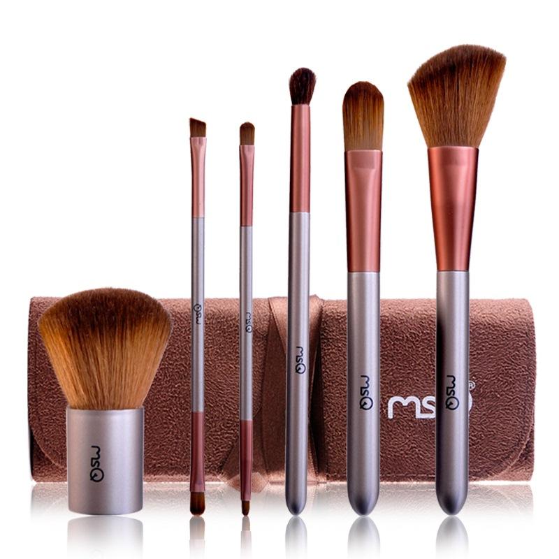 魅絲蔻(MSQ) 6支咖啡物語化妝套刷 專業化妝工具腮紅刷粉底刷眉刷唇刷眼影刷