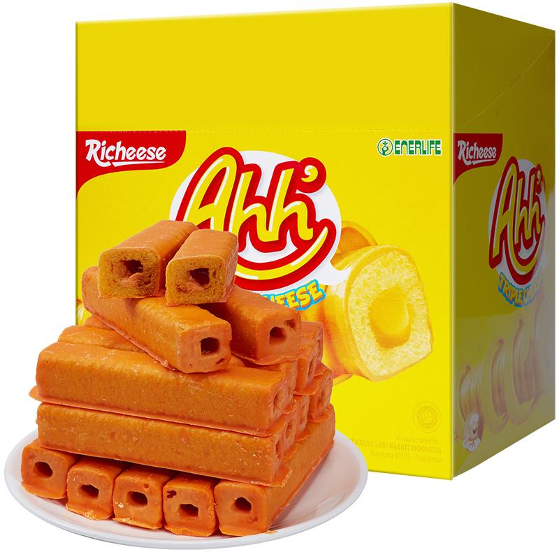 印尼进口 Nabati 丽芝士(Richeese)雅嘉 休闲零食 奶酪味 玉米棒 160g/盒 早餐下午茶
