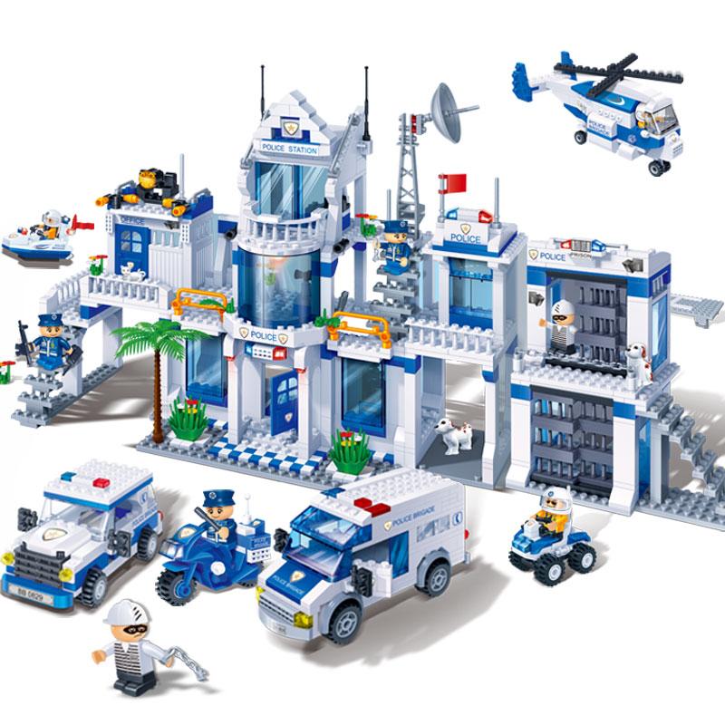邦寶【小顆�!恳嬷瞧囱b積木男孩玩具兒童拼插-城市警察總署8353