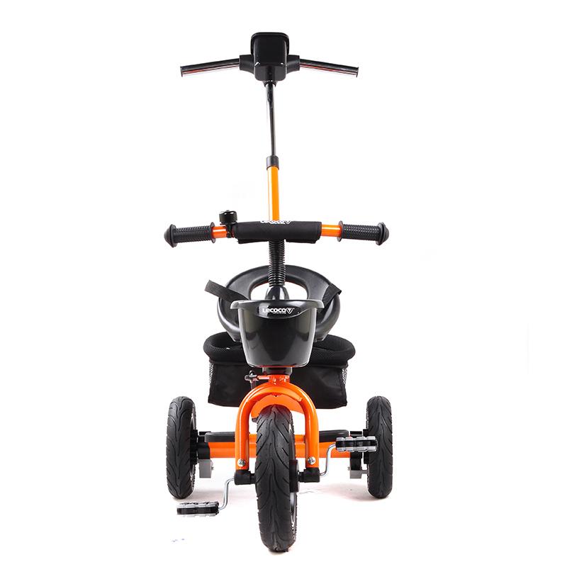 乐卡(Lecoco)儿童三轮车 三轮宝宝推车 多功能婴儿脚踏车 尼诺二代免充气钛空轮 宝丽橙