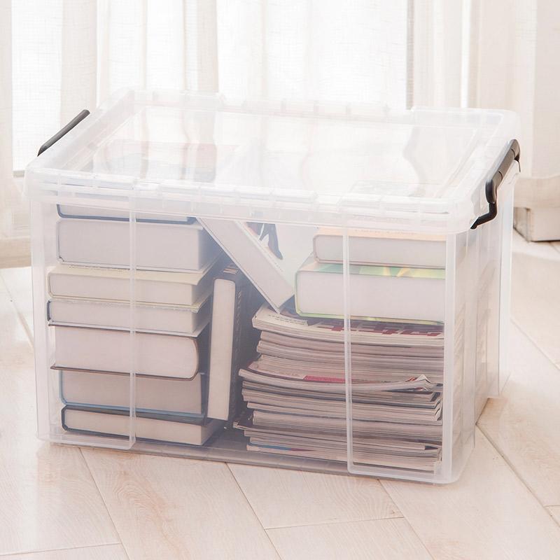 禧天龙Citylong 塑料收纳箱大号透明抗压加厚衣物整理箱玩具储物箱45L 6030