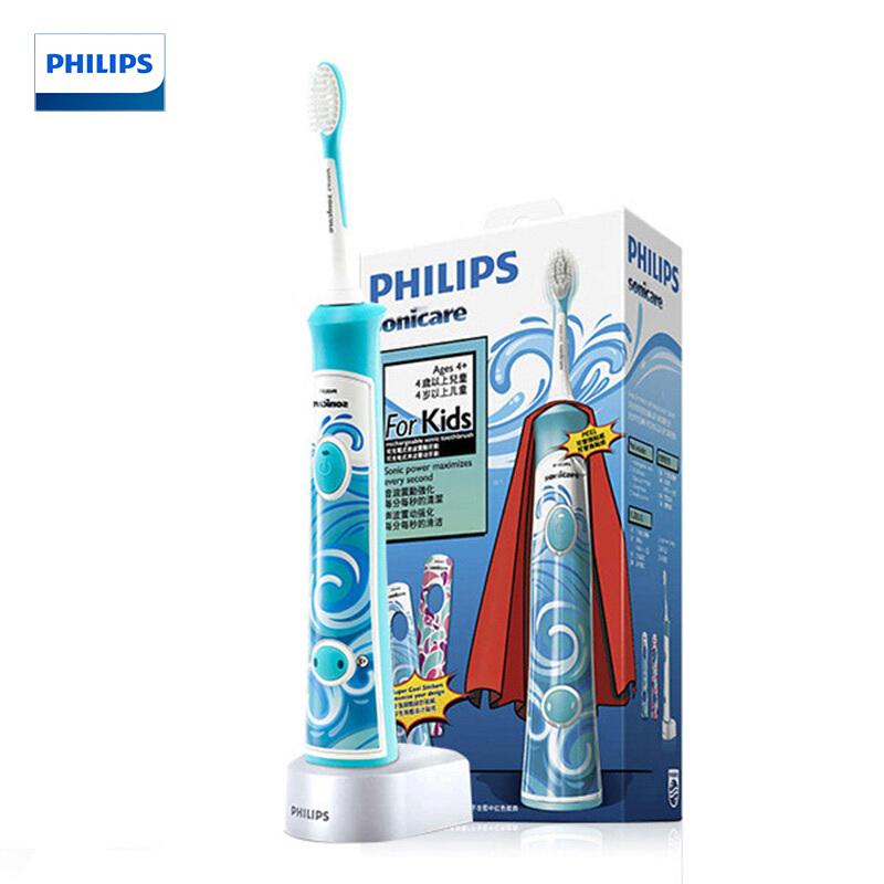 飞利浦(PHILIPS)电动牙刷HX6312/05充电式儿童电动牙刷 声波震动儿童牙刷