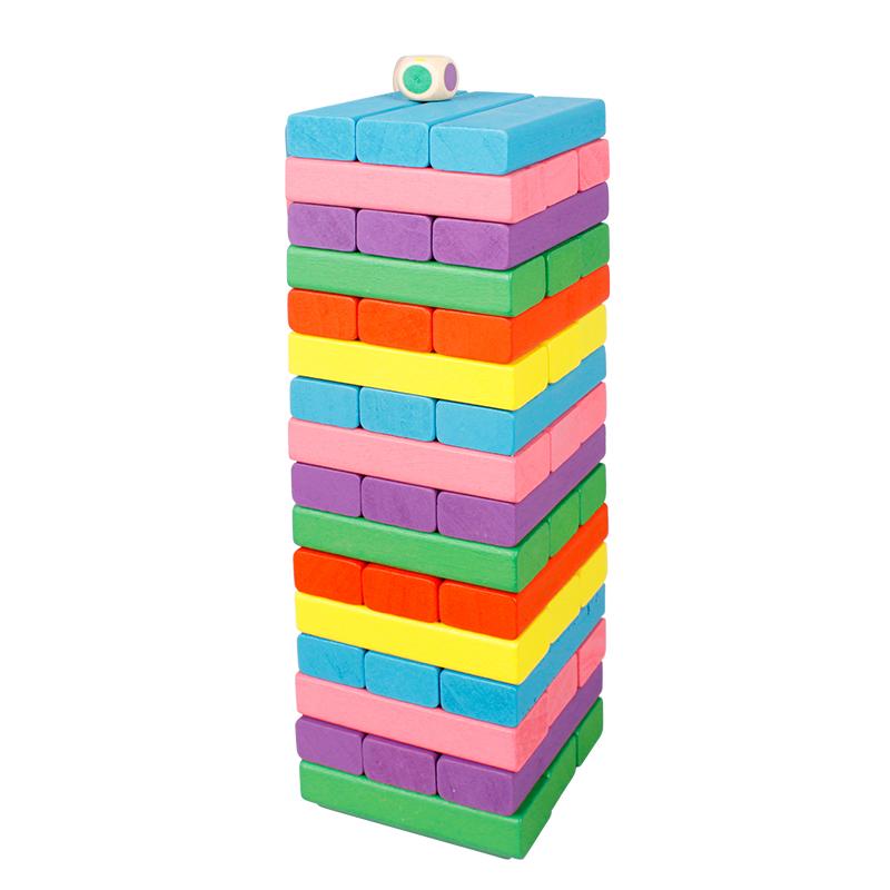 丹妮奇特 (Dan Ni Qi Te )彩色叠叠高儿童玩具木制层层叠抽积木早教益智玩具CDN-5608