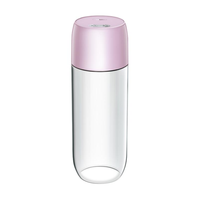 美的真空杯果汁杯便攜式保鮮杯充電 tritan材質WJS2008PT1 粉紅色