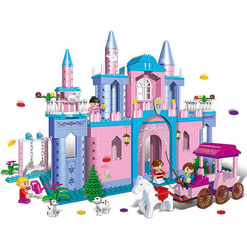 邦宝【小颗粒】益智拼装积木儿童玩具女孩拼插城堡-公主出游8360