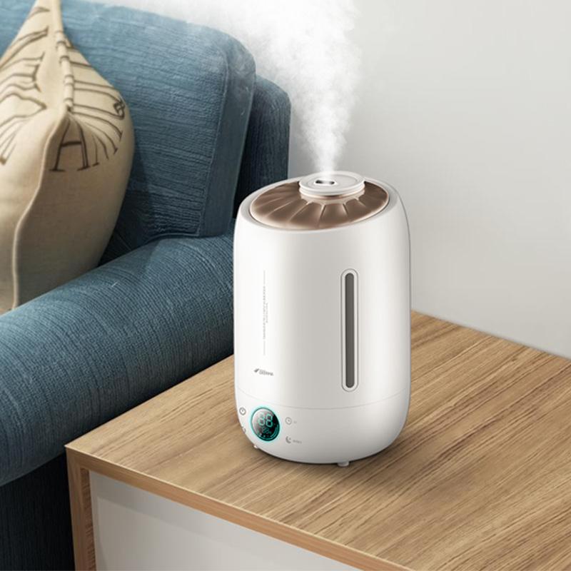 德尔玛(Deerma)加湿器 5L大容量 恒湿感温 家用卧室静音迷你办公室香薰加湿 DEM-F500(升级版)