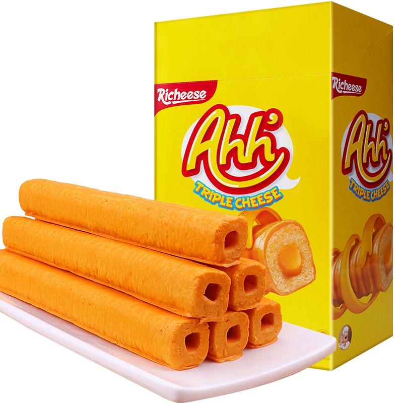 印尼进口 Nabati 丽芝士(Richeese)雅嘉 休闲零食 奶酪味 玉米棒 400g/盒 早餐下午茶
