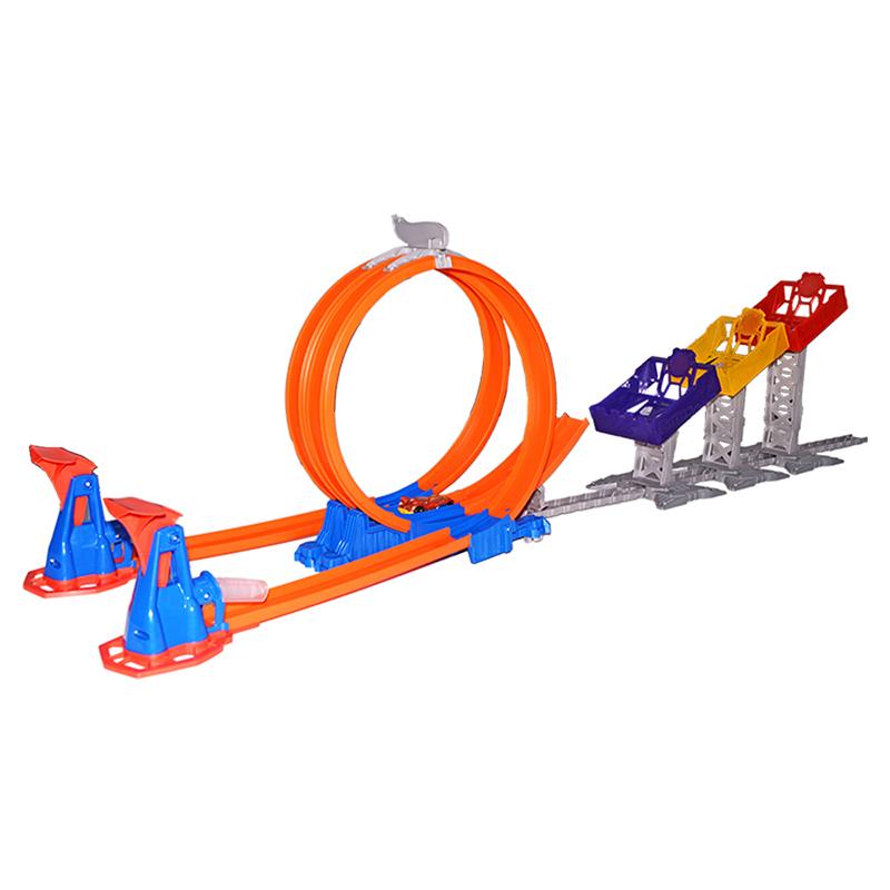 风火轮(HotWheels)男孩玩具 小车轨道 风火轮极限跳跃赛道 DJC05