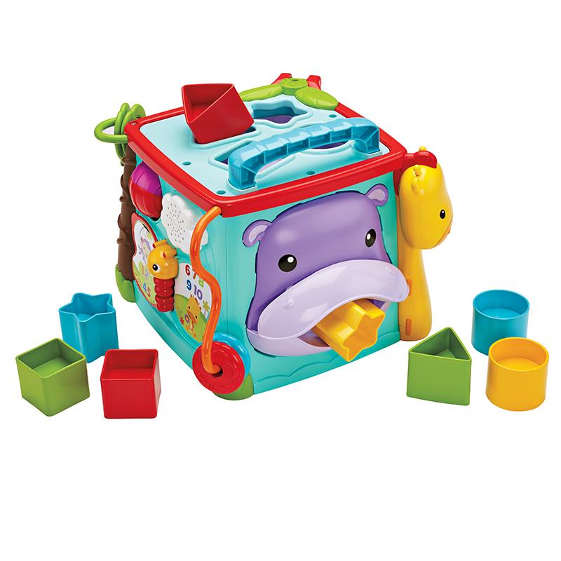 費雪(Fisher Price)多功能益智早教玩具 探索學習六面盒(雙語) CMY28