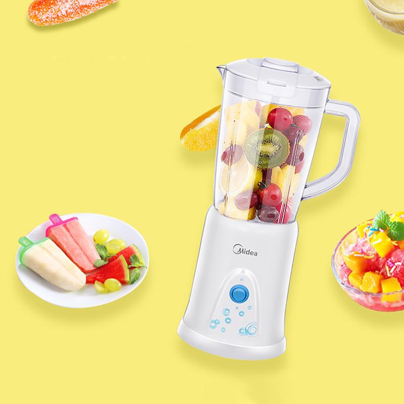 美的(Midea)料理機家用 多功能雙杯榨汁機可果汁攪拌研磨輔食WBL25B26