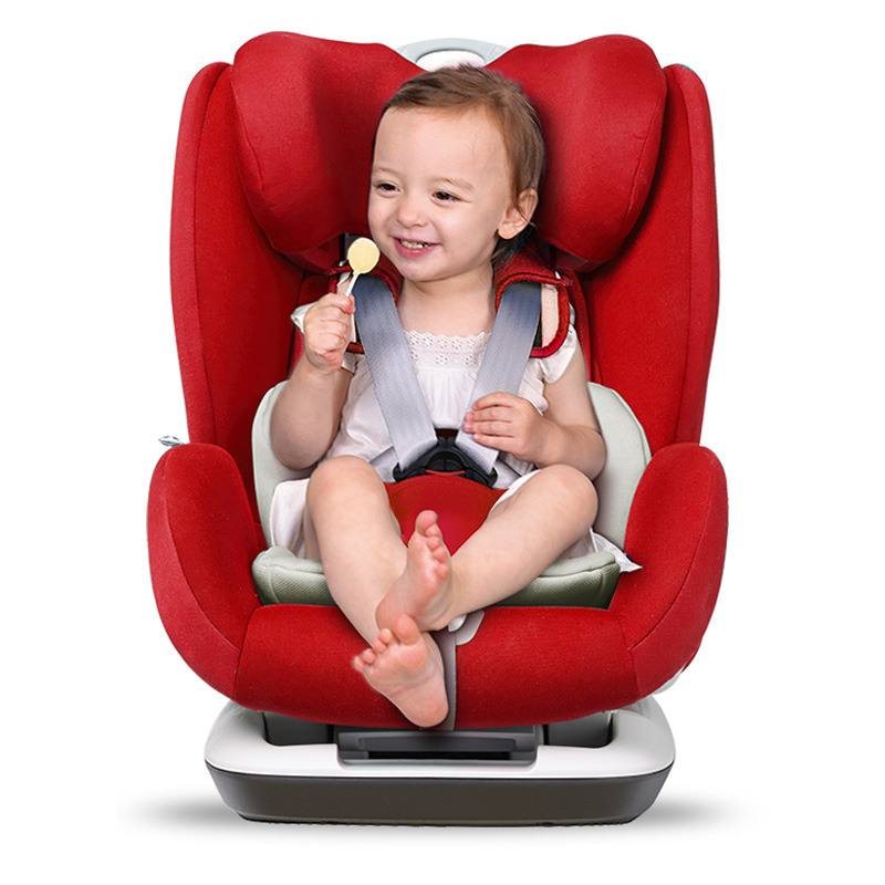寶貝第一Babyfirst汽車兒童安全座椅9月-12歲 鎧甲艦隊尊享版ISOFIX3C認證 經典紅