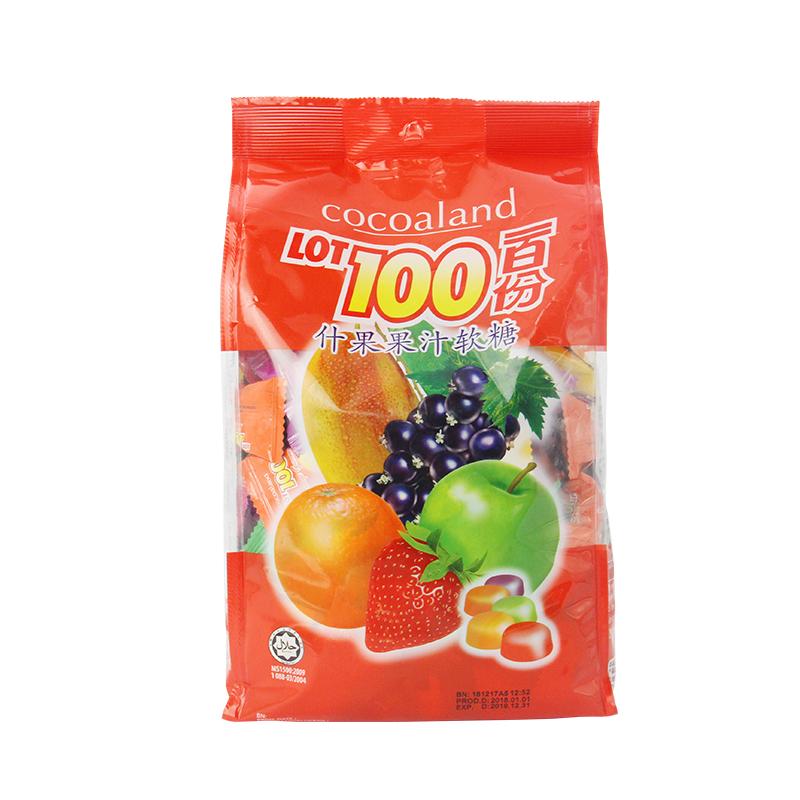 马来西亚进口 一百份 什果果汁软糖 1000g