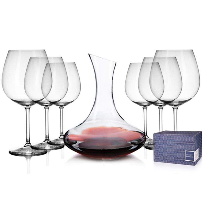 SCHOTT肖特 德国进口 高脚红酒杯115589(6只装)783ml 赠国产醒酒器1500ML