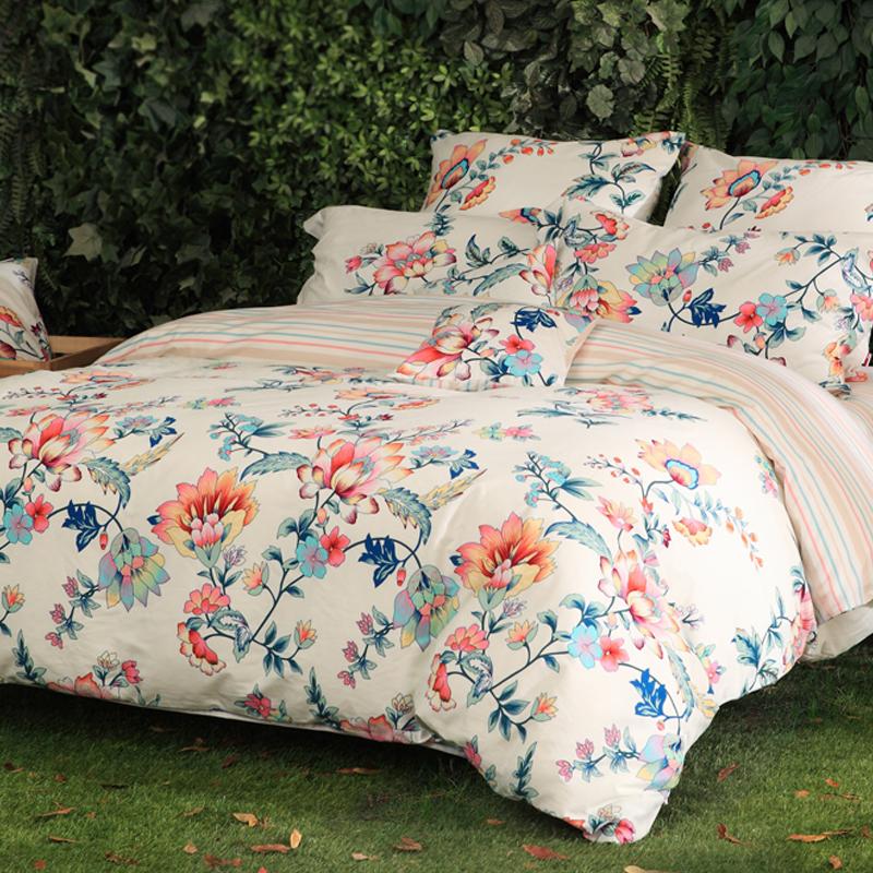 多喜爱(Dohia)床品套件 全棉加厚磨毛床上用品四件套 床单款 芳香醉人 双人 1.8米床 229*230cm