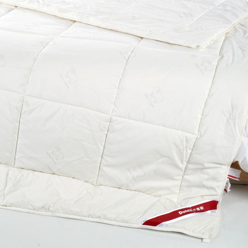 多喜爱(Dohia)被子 磨毛印花七孔羊毛被 加厚保暖冬被芯 暖芯白 1.5米床 203*229cm
