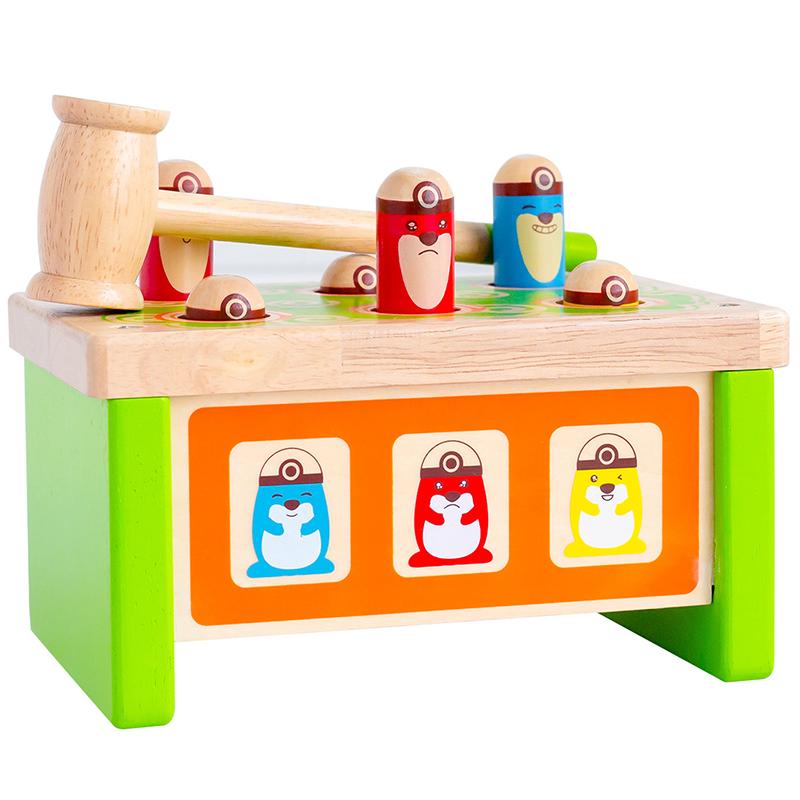 木馬智慧 趣味打地鼠敲敲樂敲擊臺 1-3歲兒童益智敲打玩具