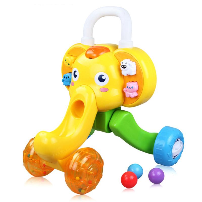 澳贝(AUBY) 益智玩具 小象学步车 运动婴幼儿童早教启智学步机 1-3岁 463322DS
