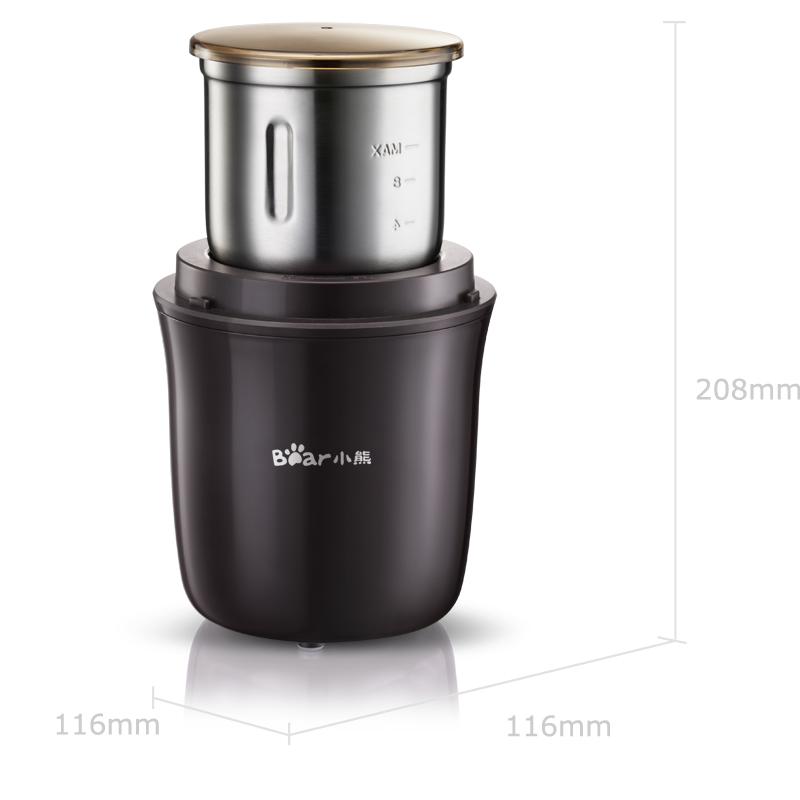 小熊(bear)研磨机磨豆机 咖啡豆干货磨粉真空储存 MDJ-A01Y1
