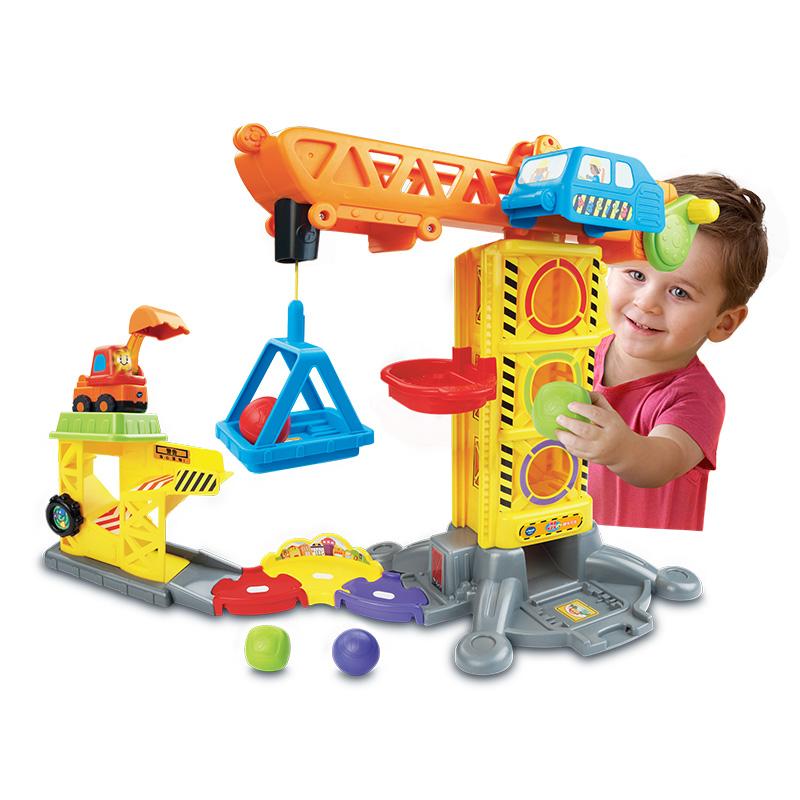 伟易达(Vtech)神奇轨道车趣味吊塔 遥控轨道玩具 儿童玩具 拼装轨道工程车挖掘机男孩玩具