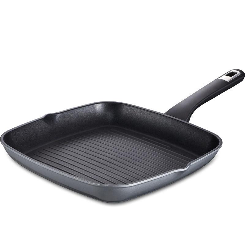 愛仕達 28CM新不粘煎鍋JL28K1WG 煎烤盤牛排煎鍋不沾少油煙 明火電磁爐通用