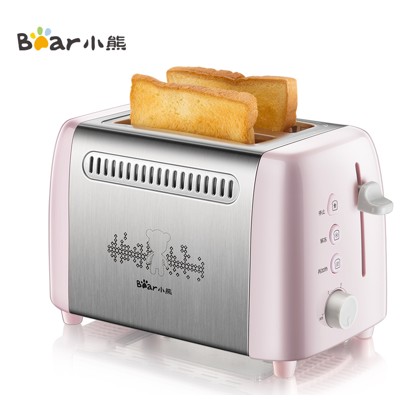 小熊烤面包機多功能多士爐6檔烘烤不銹鋼吐司機早餐機DSL-A02E3