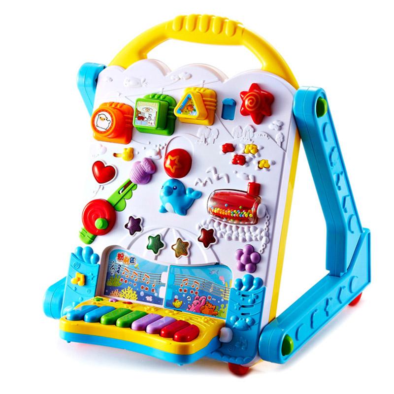 澳贝(AUBY) 益智玩具 电子多功能学习桌 婴幼儿童学步机拼插音乐写字板电子琴 463439DS