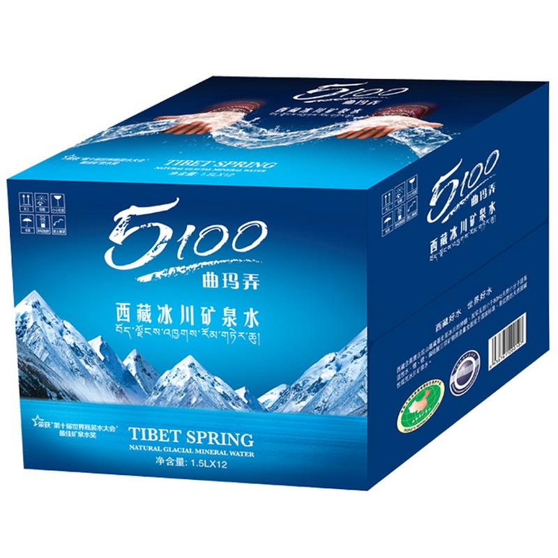5100西藏冰川矿泉水1.5L*12瓶 家庭装