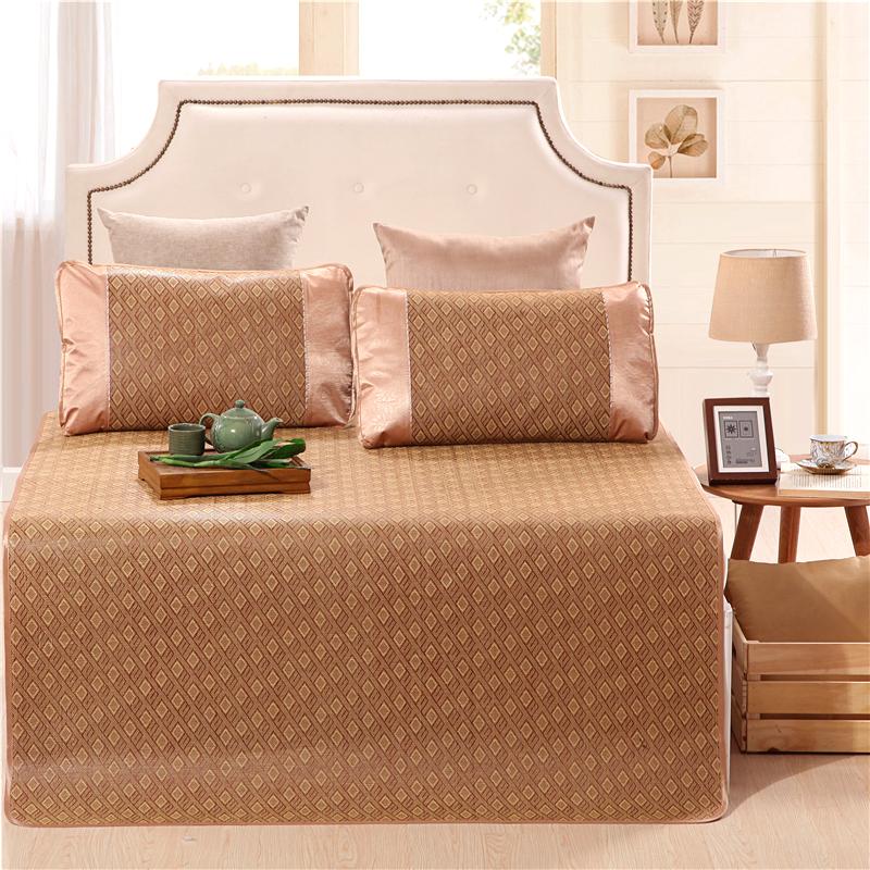 红瑞家纺 凉席藤席 床上用品双人御藤席夏宿舍空调席子三件套 休闲风格 1.5米床