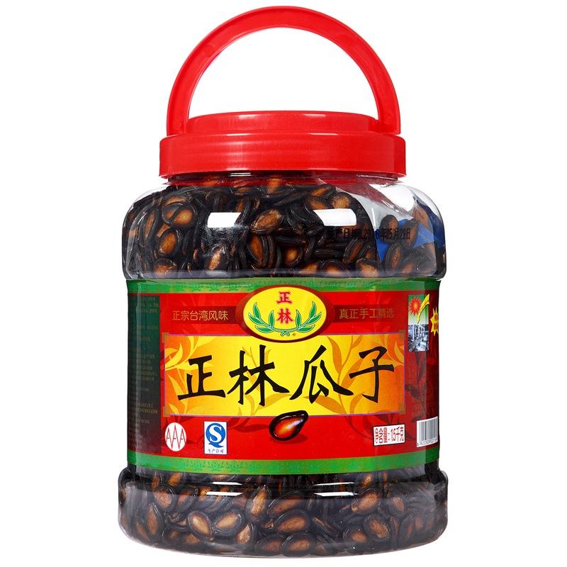 正林  堅果炒貨 休閑零食 黑瓜子1500g