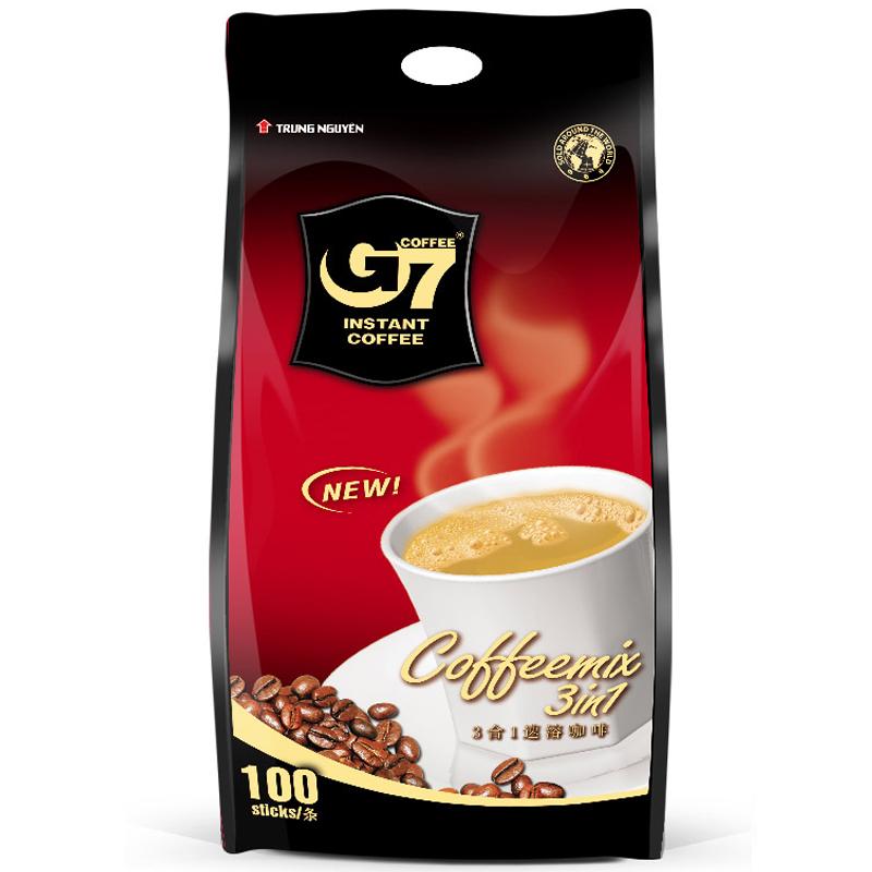 越南进口 中原G7三合一速溶咖啡1600g (16gx100条)