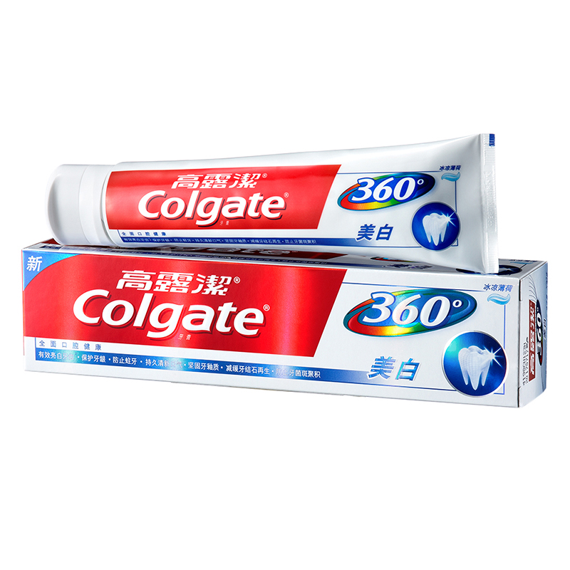 高露洁(Colgate)360°全面口腔健康 牙膏200g (健康美白)