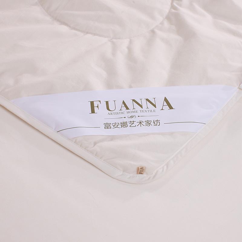 富安娜(FUANNA)出品四季被子 純棉被芯 珍芯澳洲羊毛春秋被1.8米(230*229cm)