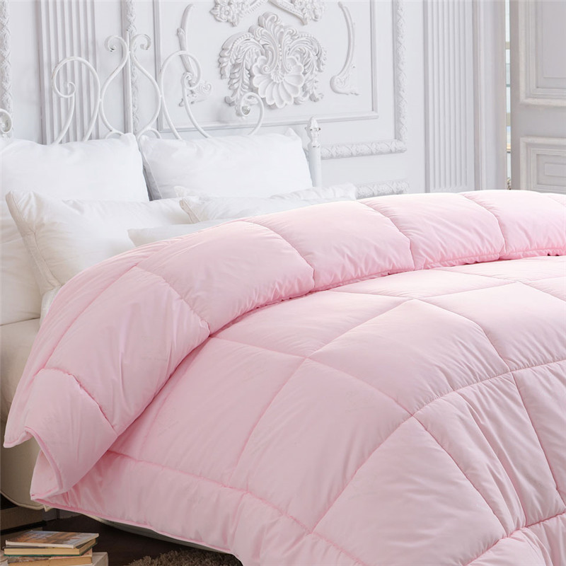 多喜愛(Dohia)被子 磨毛雙人七孔羊毛被 保暖冬被 被芯 粉色 1.8米床 229*230cm