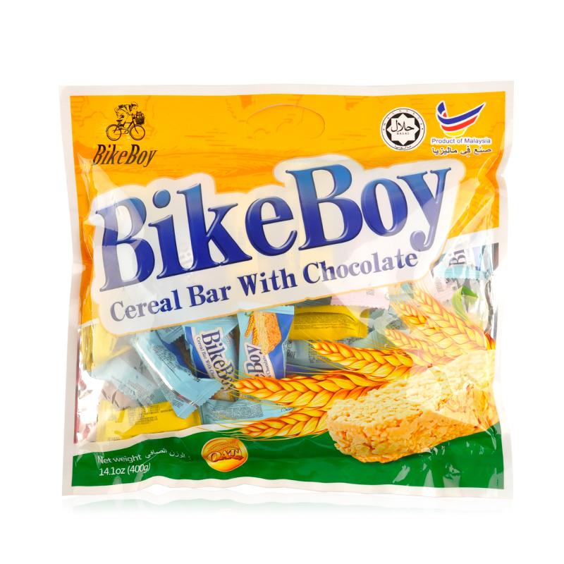 马来西亚进口 (BikeBoy) 代可可脂白巧克力燕麦棒 燕麦巧克力 400g