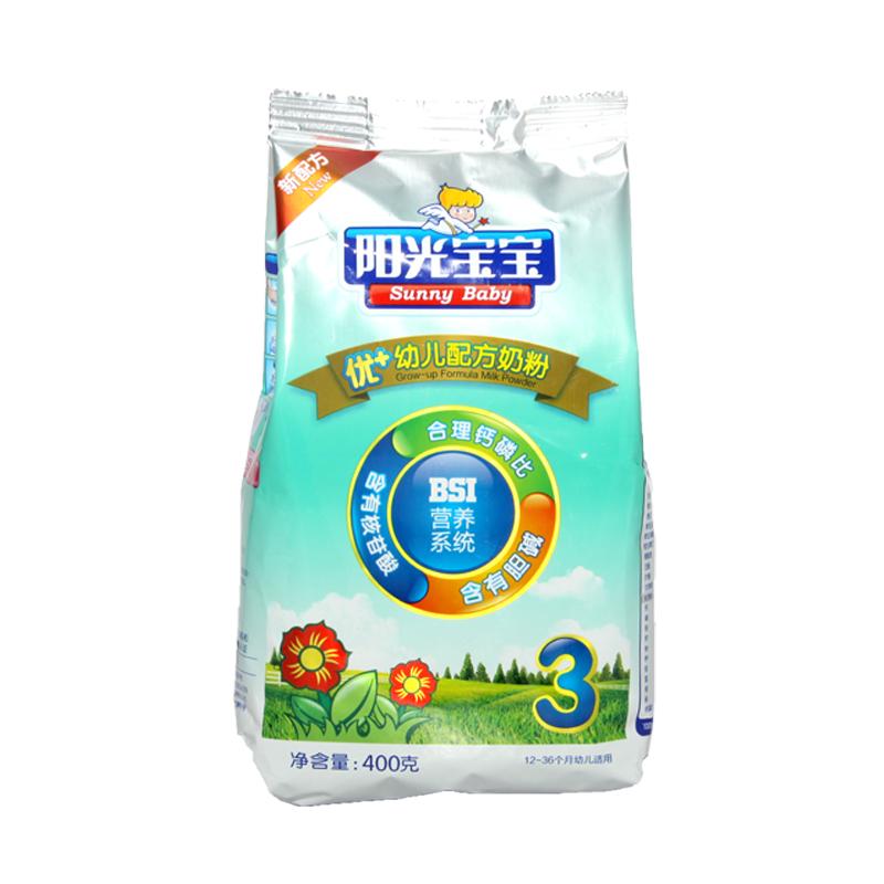 银桥 阳光宝宝 优+系列幼儿配方奶粉3段(12-36个月幼儿适用)400克袋